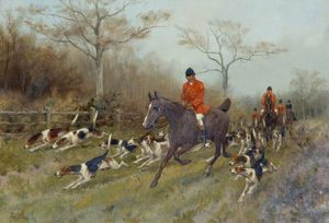 Thomas Blinks - Huntsmen And Hounds In A Woode..