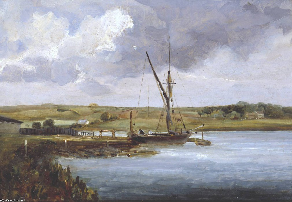 View On The Deben by Thomas Churchyard (1520-1604, United Kingdom)