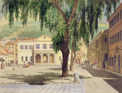Commercial Square by Thomas Colman Dibdin (1810-1893, United Kingdom)