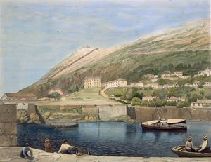 Thomas Colman Dibdin - South Barracks From Rosia Bay,