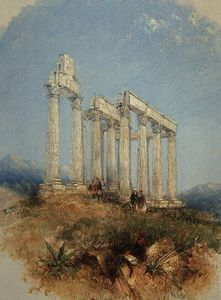 Thomas Creswick - The Temple Of Jupiter Oly..