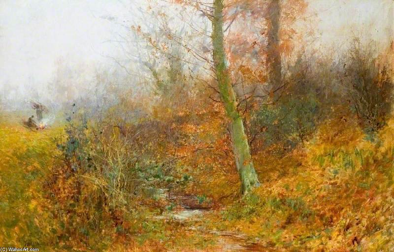 Autumn Leaves, Bushey by Thomas E Mostyn (1864-1930) | Museum Art Reproductions | ArtsDot.com