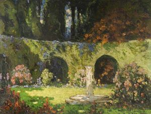 Thomas E Mostyn - In An Old-world Garden
