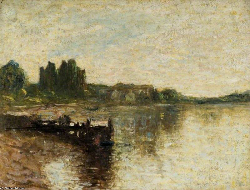 Order Art Reproductions | Kirkcudbright Castle by Thomas E Mostyn (1864-1930) | ArtsDot.com