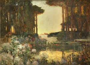 Thomas E Mostyn - The Garden Of Peace