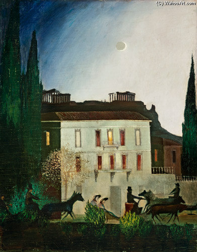 Exit At New Moon In Athens by Tivadar Kosztka Csontváry (1853-1919, Slovakia))