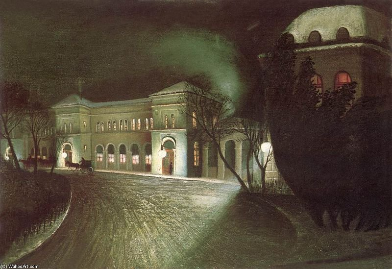 The Eastern Railway Station At Night by Tivadar Kosztka Csontváry (1853-1919, Slovakia))