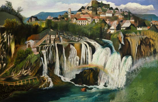 The Waterfall Of Jajce by Tivadar Kosztka Csontváry (1853-1919, Slovakia))
