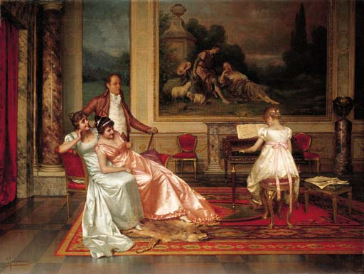 The Piano Recital by Vittorio Reggianini (1855-1938, Italy) | Museum Quality Reproductions | ArtsDot.com