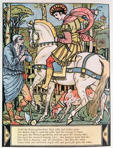 Walter Crane - The Prince Consulting A P..
