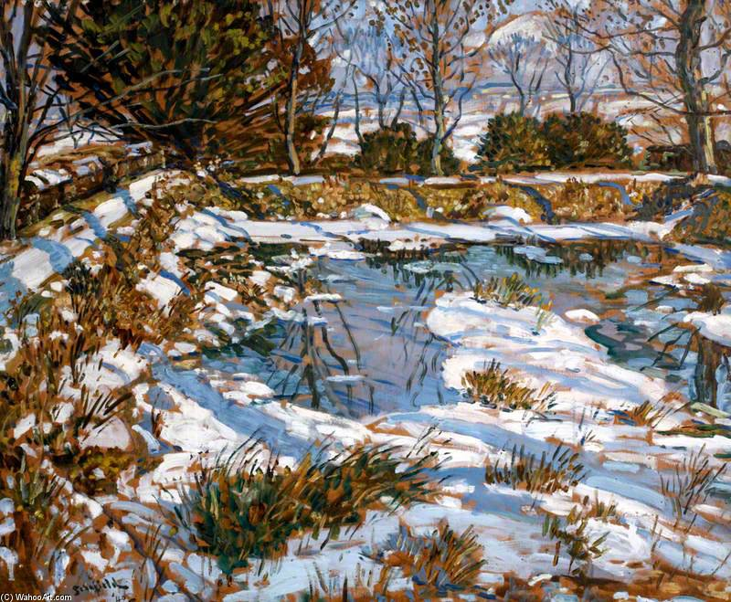 Godolphin Pond In The Snow by Walter Elmer Schofield (1867-1944, United States)