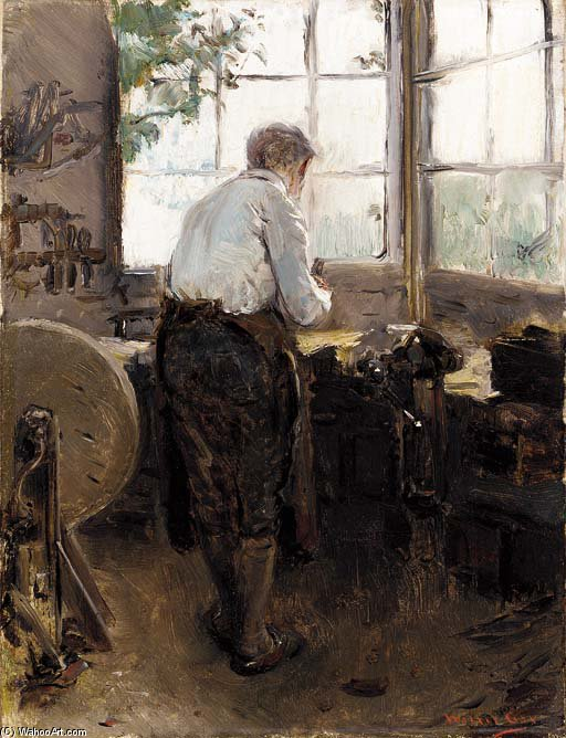In The Shop by Walter Gay (1856-1937, United States)