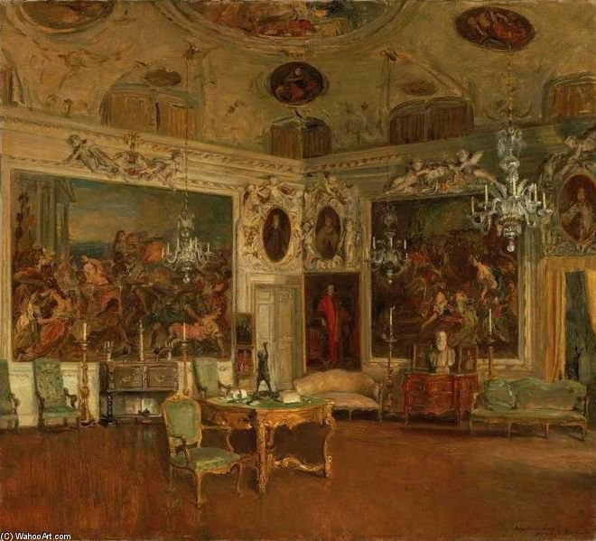 Interior Of Palazzo Barbaro, Venice by Walter Gay (1856-1937, United States)