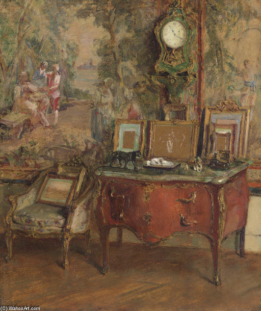 La Commode by Walter Gay (1856-1937, United States) | Painting Copy | ArtsDot.com
