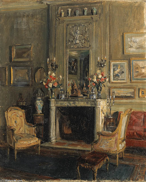 Le Salon New York De Miss Elsie De Wolfe by Walter Gay (1856-1937, United States)