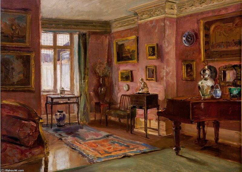 The Front Parlor by Walter Gay (1856-1937, United States) | Museum Art Reproductions | ArtsDot.com