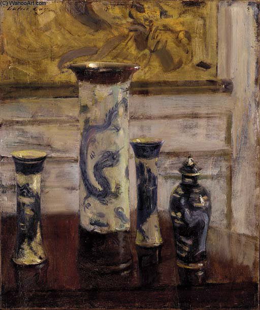 The Vases - by Walter Gay (1856-1937, United States)