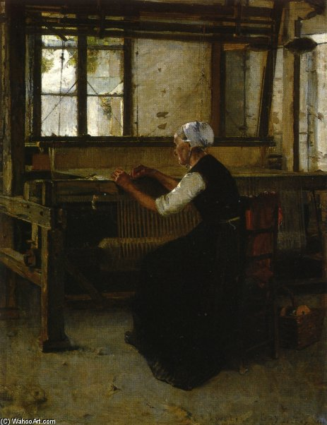 The Weaver by Walter Gay (1856-1937, United States)
