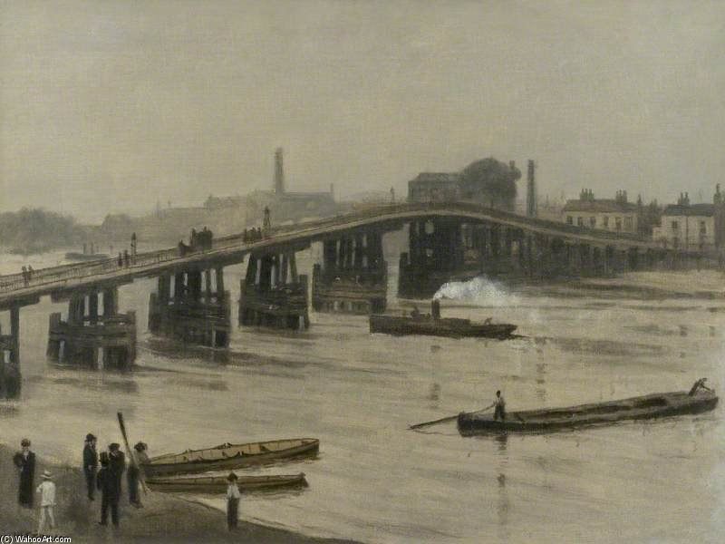 An Old London Bridge by Walter Greaves (1846-1930, United Kingdom) | Museum Quality Copies Walter Greaves | ArtsDot.com