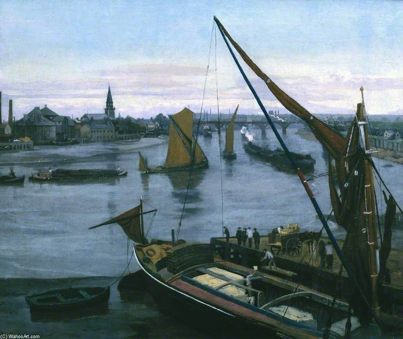 Battersea Reach by Walter Greaves (1846-1930, United Kingdom) | Museum Art Reproductions Walter Greaves | ArtsDot.com