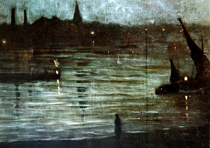 Nocturne - Battersea Reach - by Walter Greaves (1846-1930, United Kingdom) | Museum Art Reproductions Walter Greaves | ArtsDot.com