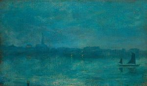 Walter Greaves - Nocturne In Blue And Gold..