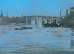 Walter Greaves - Nocturne, Battersea Old B..