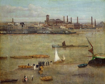 The Plumbago Factory, Battersea by Walter Greaves (1846-1930, United Kingdom) | Museum Art Reproductions Walter Greaves | ArtsDot.com