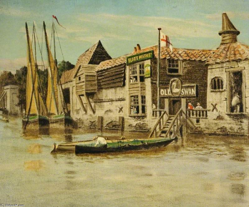 The Thames At Chelsea, London by Walter Greaves (1846-1930, United Kingdom) | Museum Art Reproductions Walter Greaves | ArtsDot.com