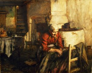 Walter Langley - Mending Clothes