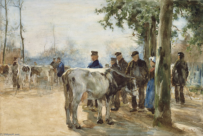 The Cattle Market by Wilhelmus Hendrikus Petrus Johannes Zwart (1862-1931, Netherlands)