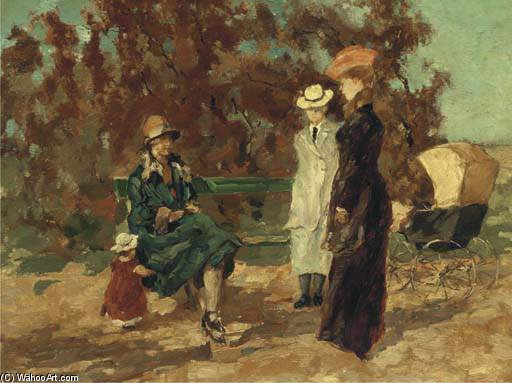 An Afternoon In The Park by Wilhelmus Hendrikus Petrus Johannes Zwart (1862-1931, Netherlands)