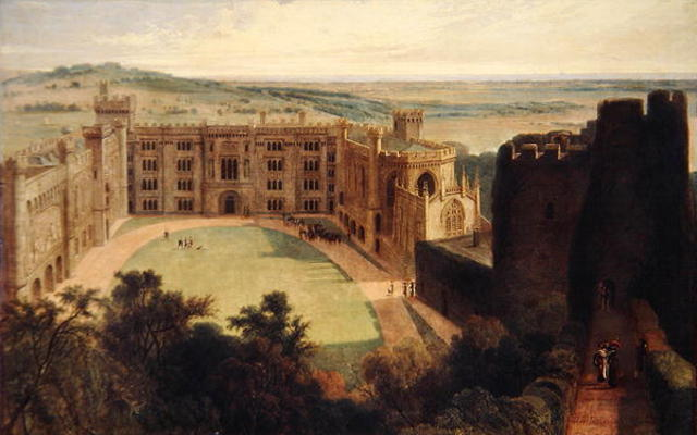 Arundel Castle From The Keep by Thomas And William Daniell (1769-1837, United Kingdom)