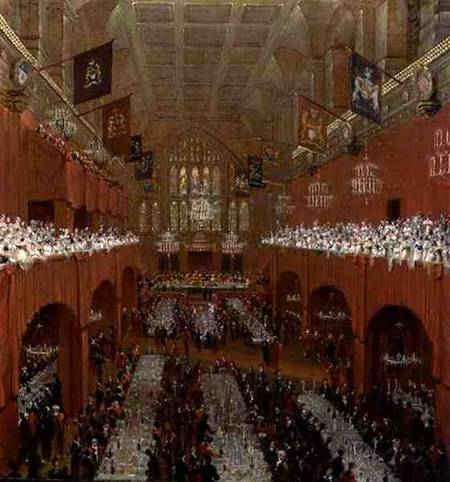 Banquet At Guildhall by Thomas And William Daniell (1769-1837, United Kingdom)