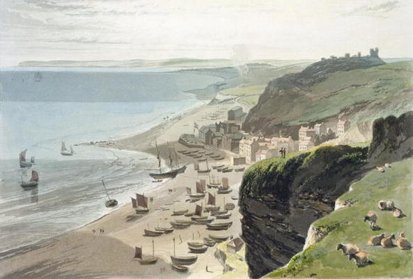 Hastings, From The East Cliff, From 'a Voyage Around Great Britain Undertaken by Thomas And William Daniell (1769-1837, United Kingdom)
