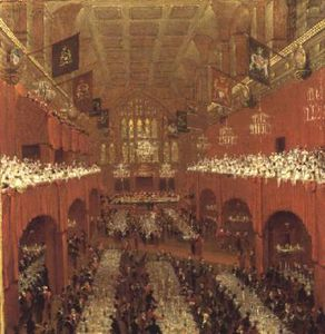 Thomas And William Daniell - The Allied Sovereigns Banquet ..