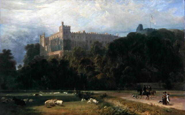 View Of Arundel Castle From The South-east by Thomas And William Daniell (1769-1837, United Kingdom)