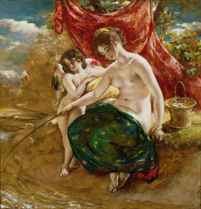 William Etty - Love-s Angling,