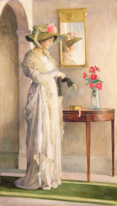 William Henry Margetson - A Moment-s Reflection
