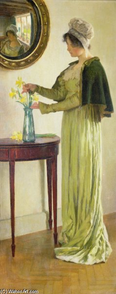 Harbingers Of Spring by William Henry Margetson (1861-1940, United Kingdom) | Museum Art Reproductions | ArtsDot.com