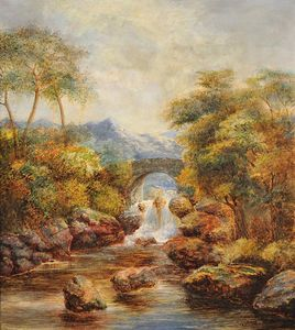 William Mellor - Alls By A Bridge In An Upland ..