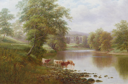 Bolton Abbey - by William Mellor (1851-1931, United Kingdom)