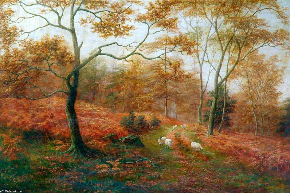 Bolton Woods, Yorkshire by William Mellor (1851-1931, United Kingdom)