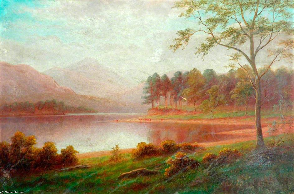 Browmill Point, Derwentwater, Cumbria by William Mellor (1851-1931, United Kingdom)