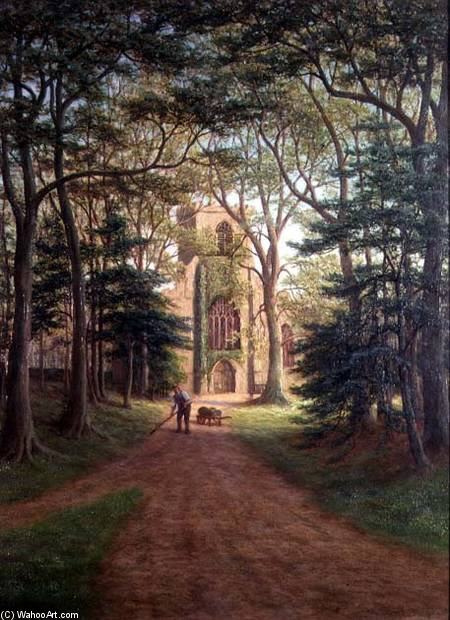 Harewood Church, Yorkshire by William Mellor (1851-1931, United Kingdom)