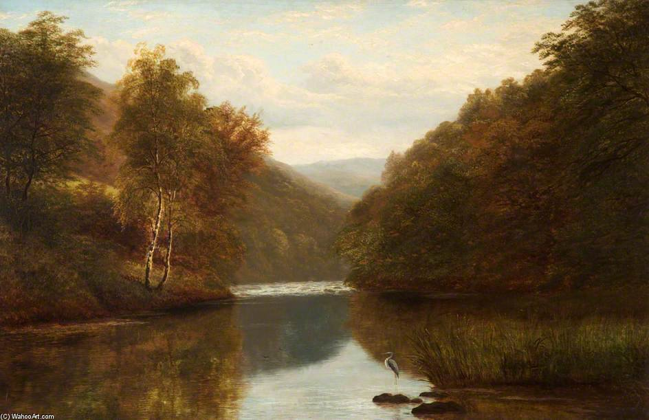On The Dee At Llangollen by William Mellor  (order Fine Art hand made painting William Mellor)