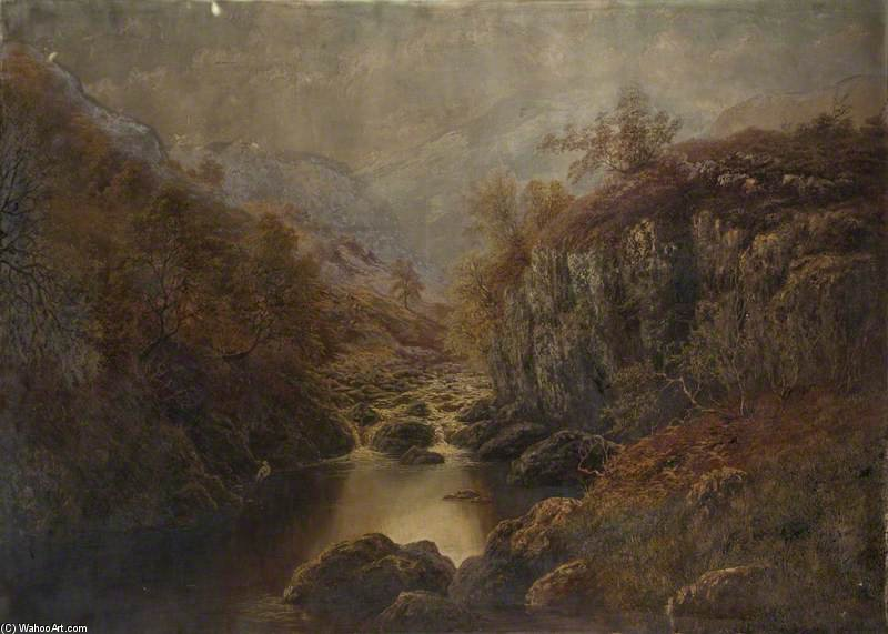 On The Lledr, North Wales by William Mellor (1851-1931, United Kingdom)