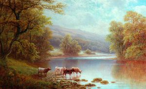 William Mellor - On The Wharfe, Bolton Woods