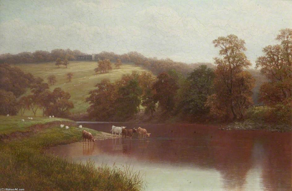 The Wharfe, Near Ilkley by William Mellor (1851-1931, United Kingdom)