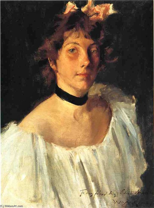 Miss Edith Newbold by William Merritt Chase (1849-1916, United States)